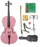 Primary image for Lucky Gifts 1/8 Size Cello,Bag,Bow+Rosin+Extra Strings+Tuner+2 Stands ~ Pink