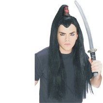 Wig - Samurai - Adult Long Hair Japanese Ninja Warrior Top Knot - $10.88