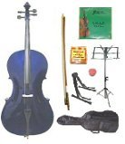 Primary image for Lucky Gifts 1/4 Size Cello,Bag,Bow+Rosin+Extra Strings+Tuner+2 Stands ~ Purple