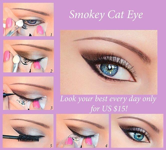 Quick Eye Makeup Maquillaje Stencil Eyeliner Eyeshadow Eyebrow ENVÍO GRATIS ES2