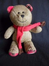 Starbucks Bearista Teddy Bear Holiday 2009  Plush Brown with Red Scarf - $9.75