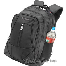 """Black 18-1/2"""" Executive Backpack with Padded Laptop Compartment & Bottle... - $34.99"""