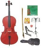 Primary image for Lucky Gifts 4/4 Size Cello,Bag,Bow+Rosin+Extra Strings+Tuner+2 Stands ~ Red