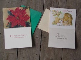 VINTAGE TWO STYLES & SIX CHRISTMAS GREETING CARDS (Magpie Treehouse Market) - $12.75