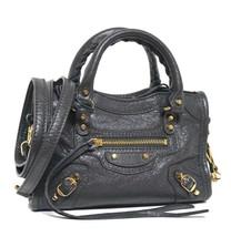 New Balenciaga City Classic Nano Arena Leather Gris Messenger Bag - $1,304.22 CAD