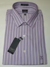 Arrow Fitted  Purple Stripes Mens Dress Shirt Size 18 34/35 - $14.99