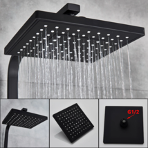Bathroom Faucet Black Rain Shower Head Thermostatic Bath Faucet  - $156.98