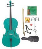 Primary image for Lucky Gifts 4/4 Size Cello,Bag,Bow+Rosin+Extra Strings+Tuner+2 Stands ~ Green