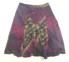 Apostrophe Womens Size 6 Abstract Polyester Lined Below Knee Skirt EUC - $5.89