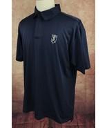 Adidas Climacool Bloomington Country Club Golf Polo Navy Blue Shirt Men's L - $21.77