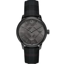 Burberry BU10010 The Classic Round Black Dial Watch 40 mm - Warranty - $369.00
