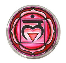 "1st Chakra Muladhara Love Root 1"" Circle Silver Adjustable Ring - $14.95"