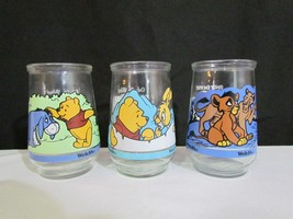 Set of 3 Welch's Glass Jelly Jars Lion King II ... - $19.79