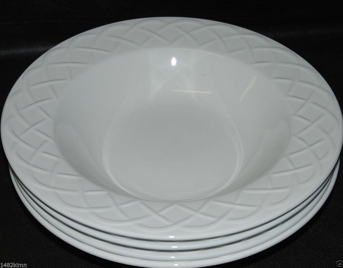 57 & Set of 4 Oneida Picnic Basketweave Rim Soup and 10 similar items