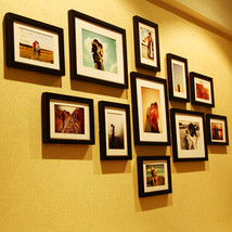 11Pcs Solid Combination Wall Mounted Wooden Picture Photo Frame Home Decor - $72.11