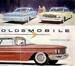 1960 Oldsmobile Red Car Print Ad  26 1/8 X 13 1/4 - $16.38