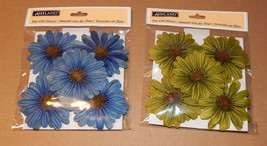 "Ashland Fun With Flowers 3"" Green & Blue 2pks 10 Total Flowers Tie On Wi... - $5.93"