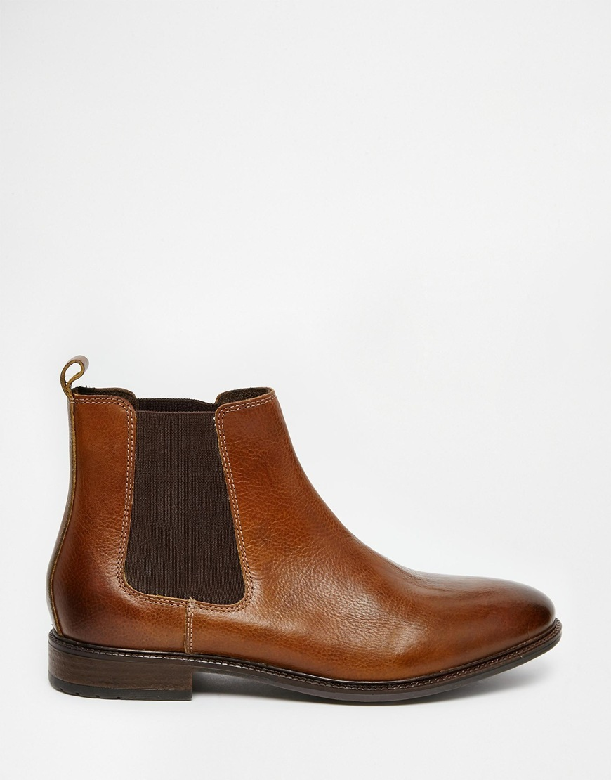 new handmade mens brown chelsea real leather boots