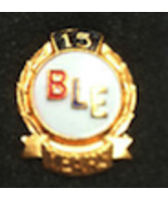 BLE 15 Year Pin  Brotherhood Locomotive Engineers Union Railroad - $29.99