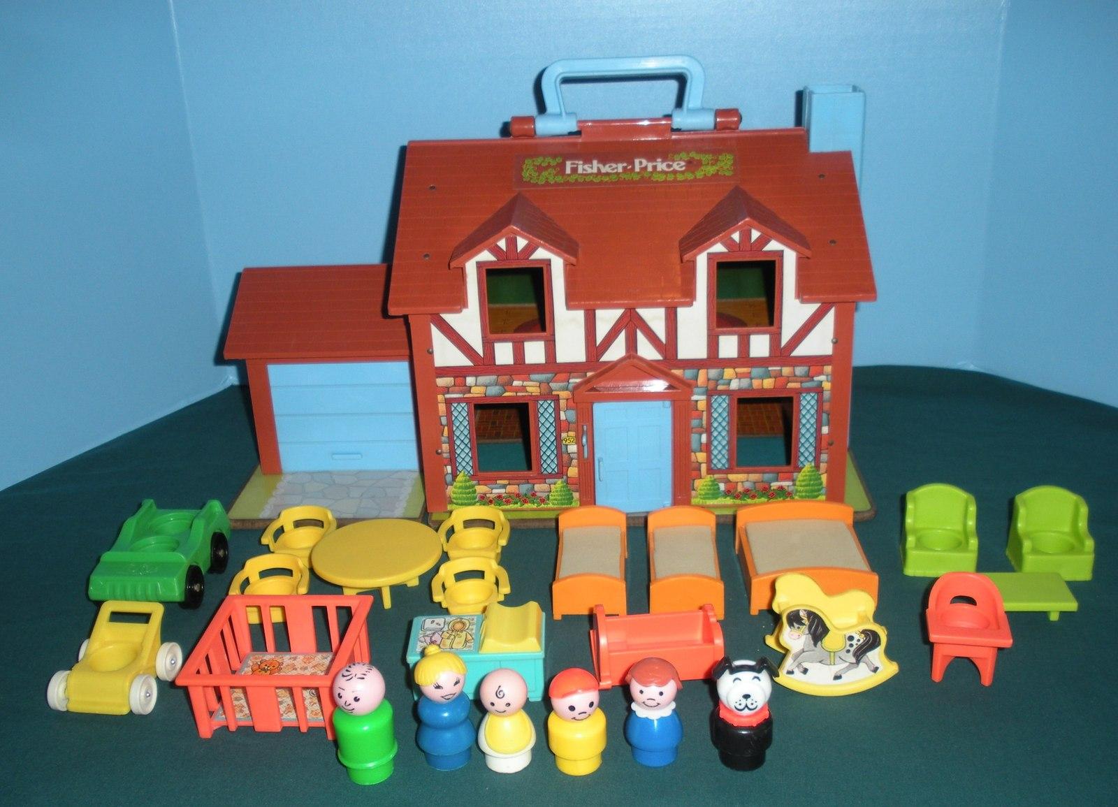 Vtg. Fisher Price Little People #952 Tudor House COMP. + BONUS/ EXC-EXC++! (F)