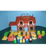 Vtg. Fisher Price Little People #952 Tudor House COMP. + BONUS/ EXC-EXC+... - $120.00