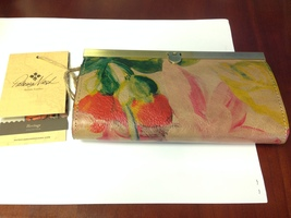 NWT Patricia Nash Heritage Floral Fold Lock Frame Italian Leather Wallet... - $69.99