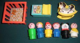 Vtg. Fisher Price Little People #952 Tudor House COMP. + BONUS/ EXC-EXC++! (F) image 2