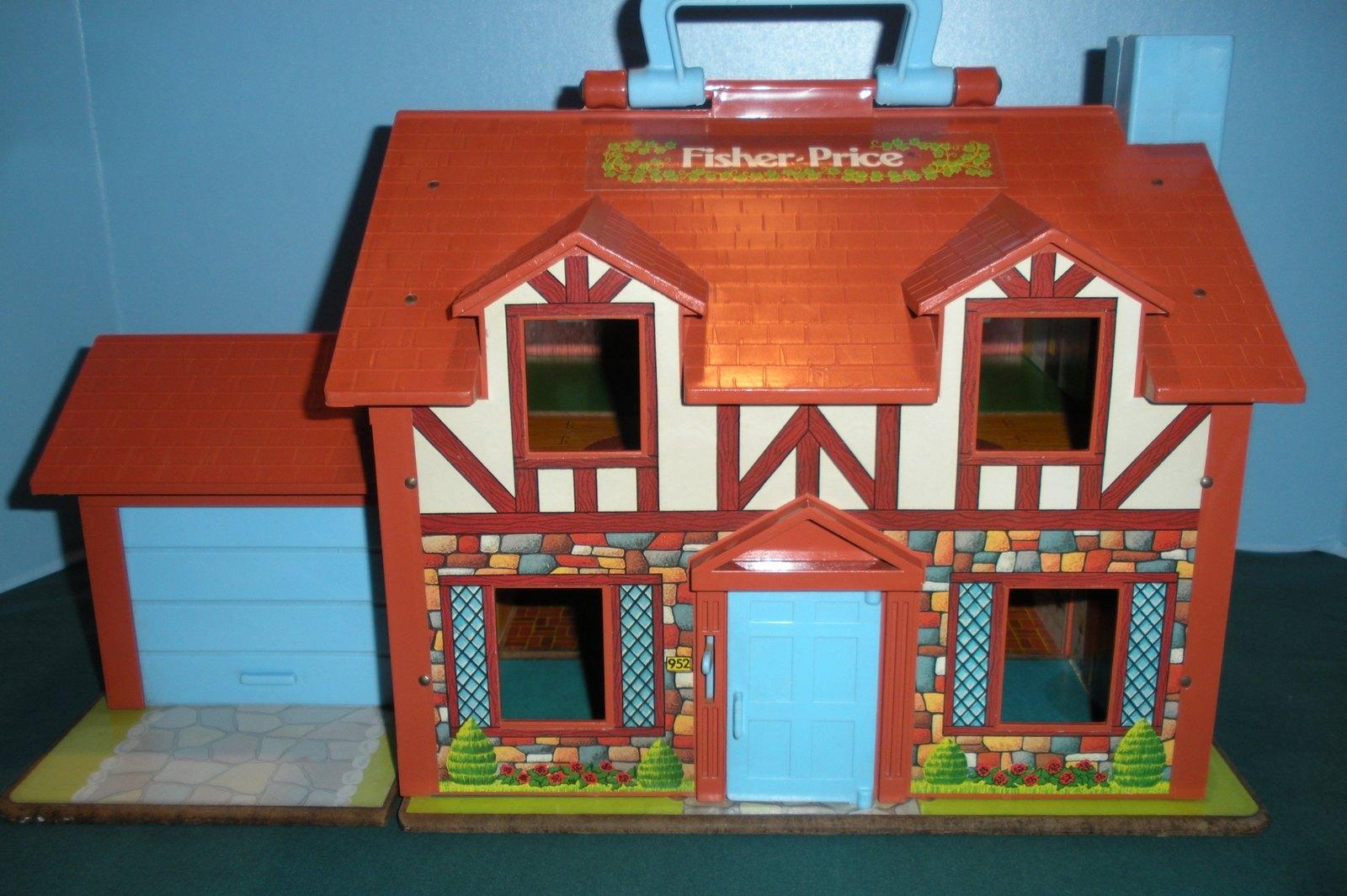 Vtg. Fisher Price Little People #952 Tudor House COMP. + BONUS/ EXC-EXC++! (F) image 3