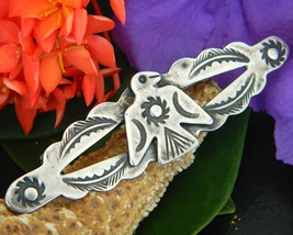 Vintage Native American Thunderbird Eagle Sterling Silver Brooch Pin - $89.95