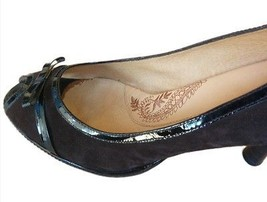 Sofft Peep Toe Pumps Brown Suede Leather Patent Trim Size 11 M  - $21.63