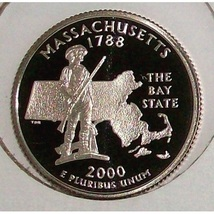 2000-S Clad Proof Massachusetts State Quarter PF65DC #426 - $2.39