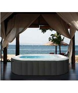 Inflatable Bubble Hot Tub Spa w/ Bubble Jets & Built in Heater Soothing ... - $854.50