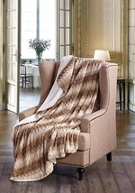 HONEY TWIST Faux Fur Sherpa Luxury Throw Light Weight Blanket 50 in x 70 in - ₹2,764.24 INR