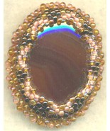 Agate Beaded Victorian Style Brooch - $9.83