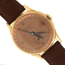 Men's Vintage Charles Nicolet Tramelan 188-18 15-Jewel 18K Rose Gold Watch - $998.85