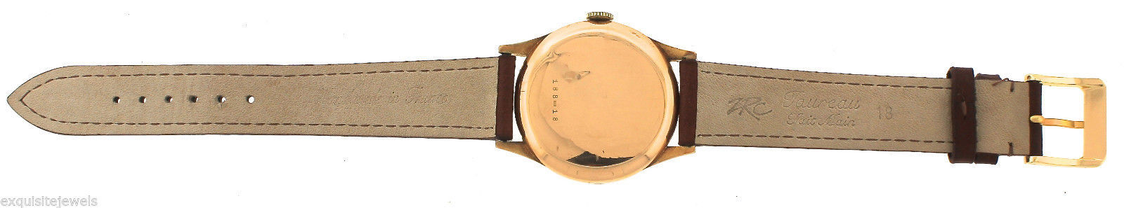 Men's Vintage Charles Nicolet Tramelan 188-18 15-Jewel 18K Rose Gold Watch