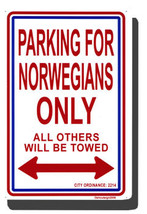 Norway Parking Sign - $11.94