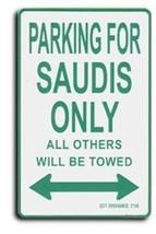 Saudi Arabia Parking Sign - $11.94