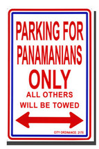 Panama Parking Sign - $11.94