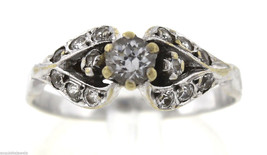 Vintage Antique Estate 14K White Gold 0.35ctw Diamond Ring 2.6 Grams - $499.95