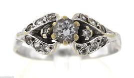 Vintage Antique Estate 14K White Gold 0.35ctw Diamond Ring 2.6 Grams - $499.95