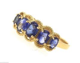 Lovely Ladies Estate 14K Yellow Gold Blue Tanzanite Ring - $269.69