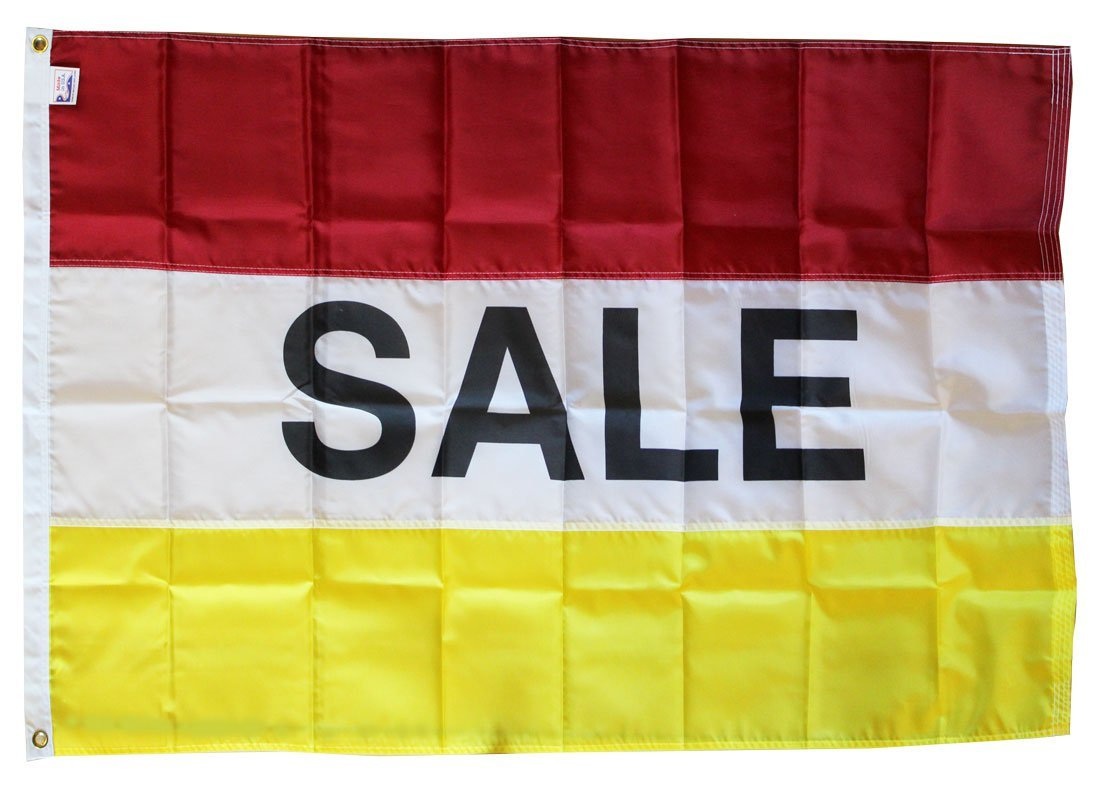 Sale - 3'X5' Nylon Flag (red/white/yellow)