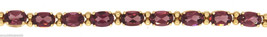 """Solid 14K Yellow Gold Natural 6.5ctw Amethyst Bracelet 7.25"""" 8.5g - $499.95"""