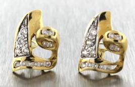 Sidra 18K Yellow Gold Matte Stripe TriTone Floral Pink Tourmaline Heart Earrings - $348.95