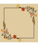 Vintage Frame with Autumn Leaves and Space-Digi... - $3.00