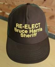Vintage Sheriff Bruce Harris Trucker Hat Deputy Police Law Enforcement Cap - $18.33