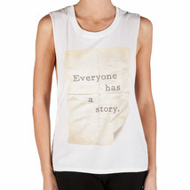 Element STORY TANK White - Medium - Graphic Cotton Muscle Top NEW Womens - $16.90