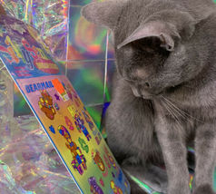 $22UPS1Day/$6USPS LISA FRANK Easter Puzzle Sealed stickers Rollouts Stamp Kitty image 6