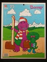 Barney Baby Bop Tray Puzzle Milton Bradley Vintage 25 Piece Skiing 1993 - $12.82